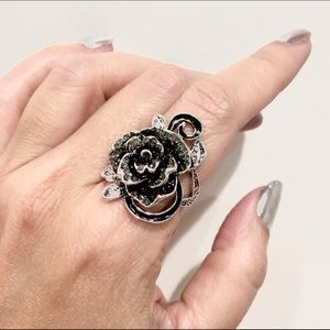 🆕 Black Rose Gothic Vintage Style Ring